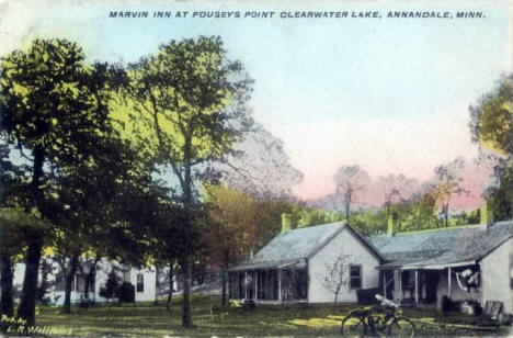 Marvin Inn at Fouseys Point, Clearwater Lake, Annandale Minnesota, 1907