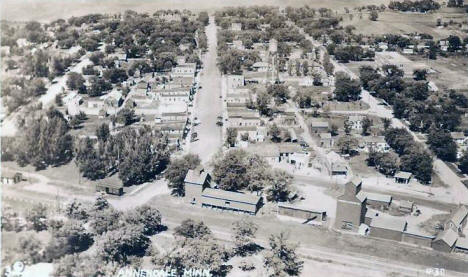 Aerial View, Annandale Minnesota, 1940's