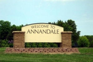 Annandale Minnesota welcome sign