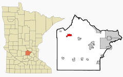 Location of Annandale, Minnesota