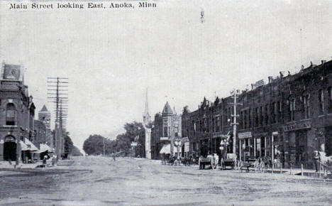 Main Street looking east, Anoka Minnesota, 1910