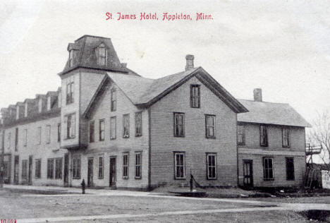 St. James Hotel, Appleton Minnesota, 1910's