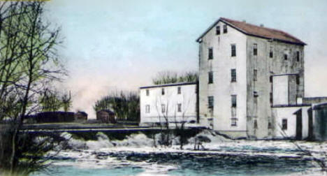 Pomme de Terre River and Appleton Mills, Appleton Minnesota, 1908