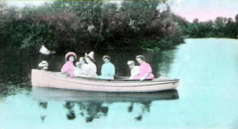 Boating on the Pomme de Terre, Appleton Minnesota, 1910
