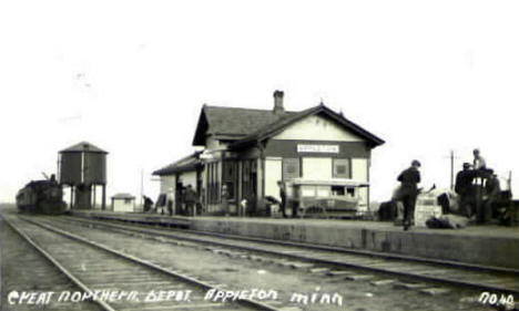 Great Northern Depot, Appleton Minnesota, 1914