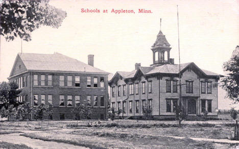 Schools at Appleton Minnesota, 1915