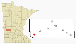 Location of Appleton, Minnesota