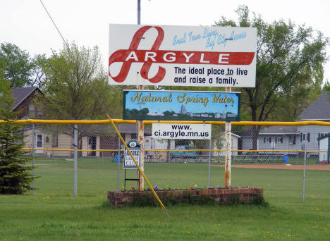 Argyle Minnesota Welcome Sign, 2008