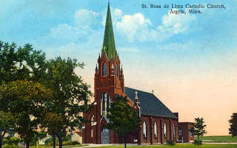 St. Rosa de Lima Catholic Church, Argyle Minnesota, 1914