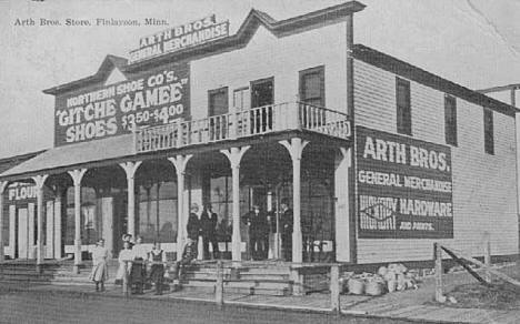 Arth Brothers Store, Finlayson Minnesota, 1914