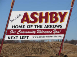Ashby Minnesota sign