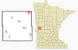 Location of Ashby, Minnesota