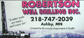 Robertson Well Drilling Inc, Ashby Minnesota