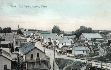 Birds Eye View, Ashby Minnesota, 1909
