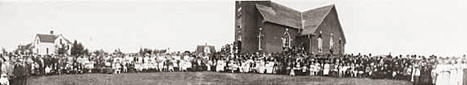 Askov Church dedication, Askov Minnesota, 1905