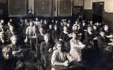 Students in Classroom, Atwater Minnesota, 1910's