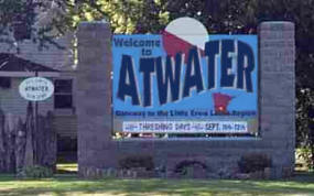 Welcome to Atwater Minnesota