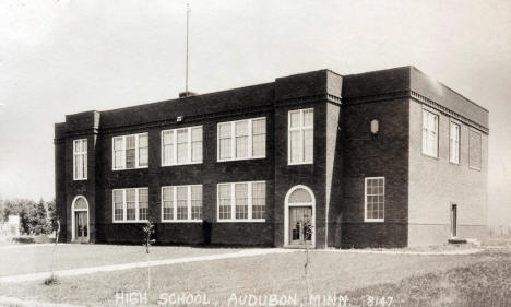 High School, Audubon Minnesota, 1938