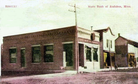 State Bank of Audubon Minnesota, 1910's?