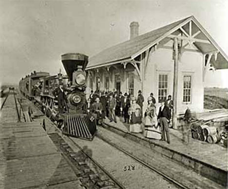 Northern Pacific Railroad Station, Audubon Minnesota, 1870