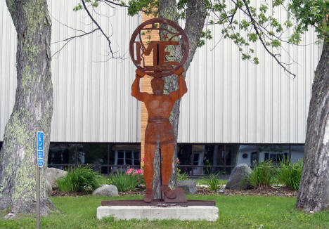 Sculpture at Mesabi East School, Aurora Minnesota, 2009