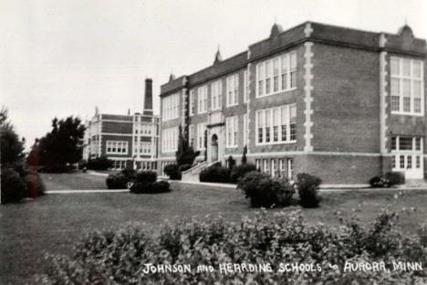 Johnson and Hearding Schools, Aurora Minnesota, 1940's