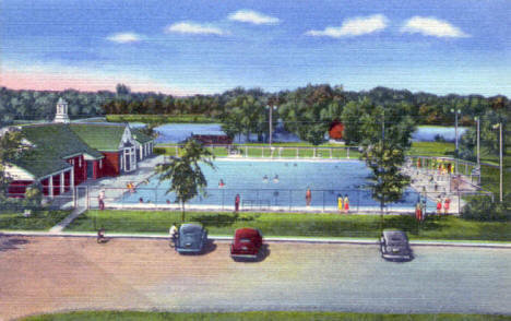 Municipal Pool, Austin Minnesota, 1940's