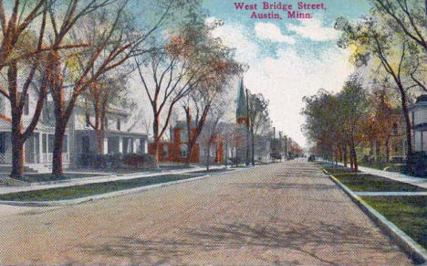West Bridge Street, Austin Minnesota, 1910's