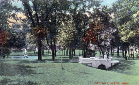 City Park, Austin Minnesota, 1916