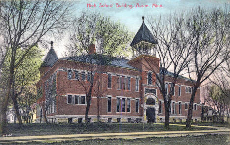 High School Building, Austin Minnesota, 1908