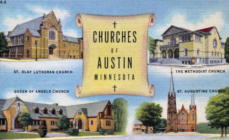 Churches of Austin Minnesota, 1951