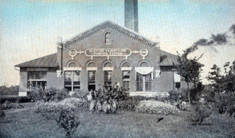 Electric Light and Pumping Station, Austin Minnesota, 1908