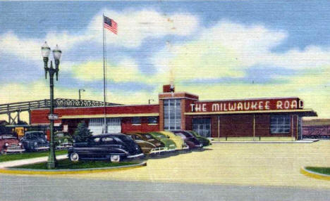 Milwaukee Road Depot, Austin Minnesota, 1953