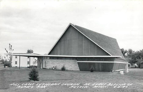Holy Cross Lutheran Church, Austin Minnesota, 1950's