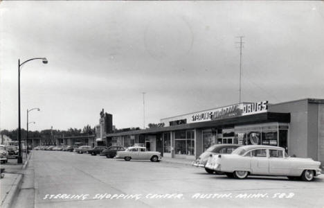 Sterling Shopping Center, Austin Minnesota, 1955