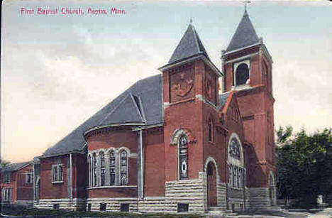 First Baptist Church, Austin Minnesota, 1910's
