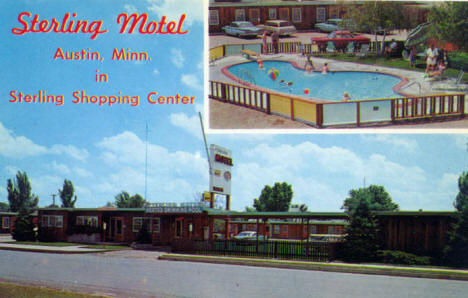 Sterling Motel, Austin Minnesota, 1960's