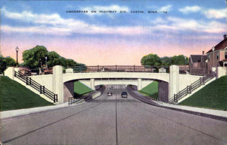 Underpass on Highway 218,  Austin Minnesota, 1950's