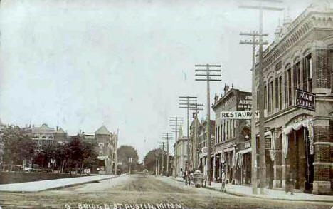 Bridge Street, Austin Minnesota, 1908