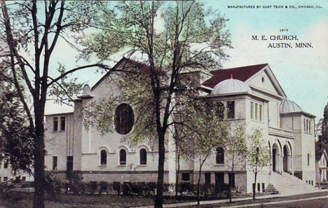 Methodist Episcopal Church, Austin Minnesota, 1910's