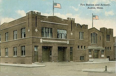 Fire Station and Armory, Austin Minnesota, 1914