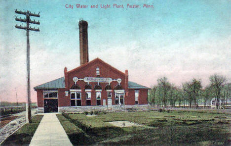 City Water and Light Plant, Austin Minnesota, 1907