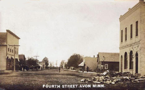 Fourth Street, Avon Minnesota, 1909