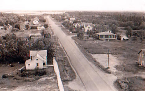 View of Badger Minnesota, 1940's?