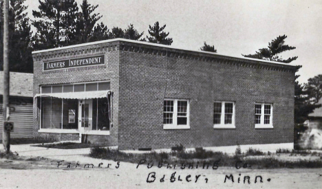 Farmers Independent Newspaper Office, Bagley Minnesota, 1930's