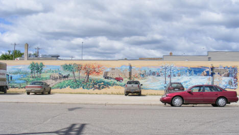 Mural on the side of Galli Furniture, Bagley Minnesota, 2009
