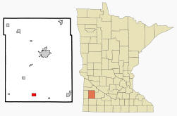 Location of Balaton, Minnesota