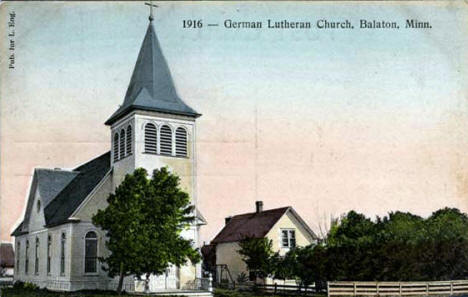 German Lutheran Church, Balaton Minnesota, 1916
