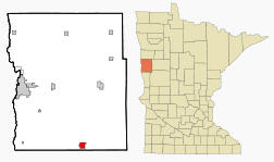 Location of Barnesville, Minnesota