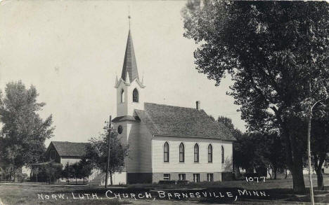 Norwegian Lutheran Church, Barnesville Minnesota, 1920's
